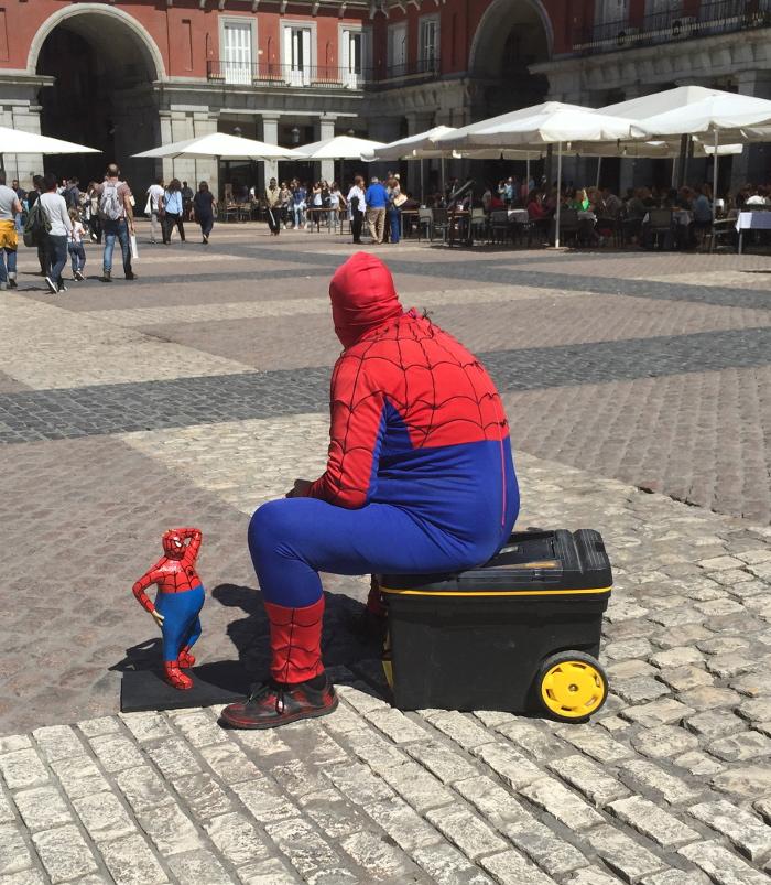 Fat Spiderman taking a break.